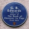 Blue Plaques - GB Edwards