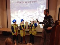 Archaeology session with St Martins School at Candie, 2015
