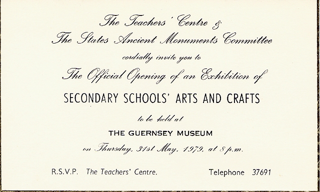 1978 79 Exhibition Posters Guernsey Museums